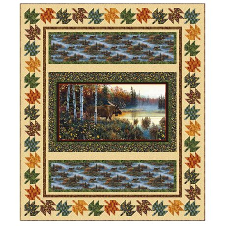Nature's Palette Moose Country Quilt Kit Twin