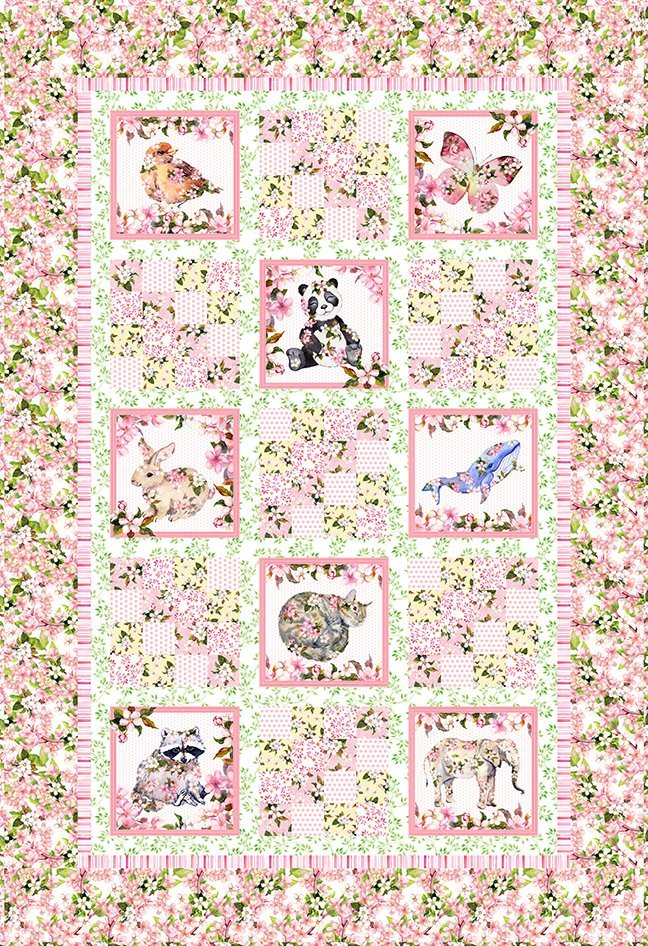 In the Beginning Pretty in Pink QUILT KIT