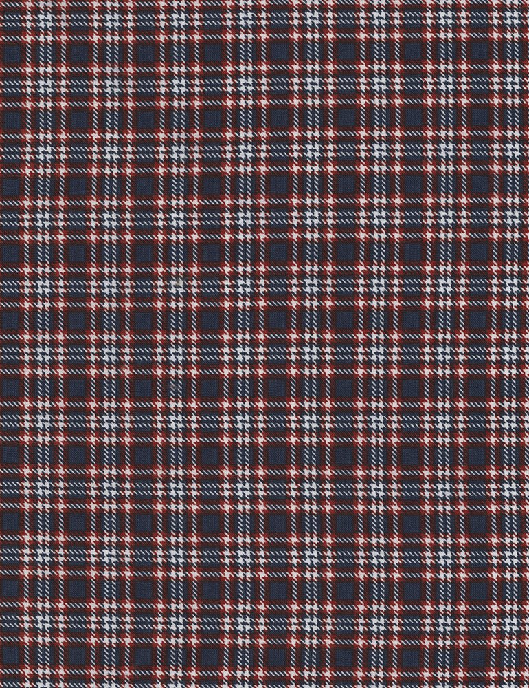 Timeless Treasures American Pride Plaid C5569-Navy and Red Plaid