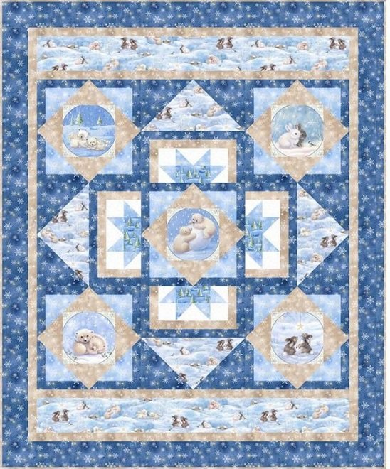 Woodland Cuties Quilt Kit 44x54