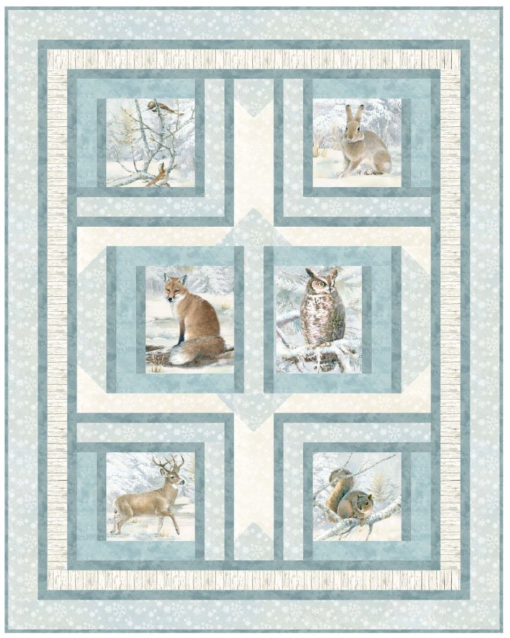 Forest Friends Flannel Quilt Kit (Enchanted Forest Flannel)