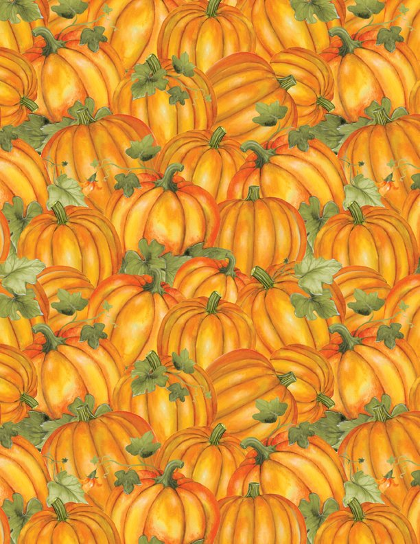 Wilmington Colors of Fall 84414-587 Orange all-over pumpkin
