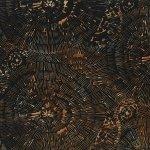 Hoffman Bali Batik Q2130-A4 Antique Black Large Dashed Circles