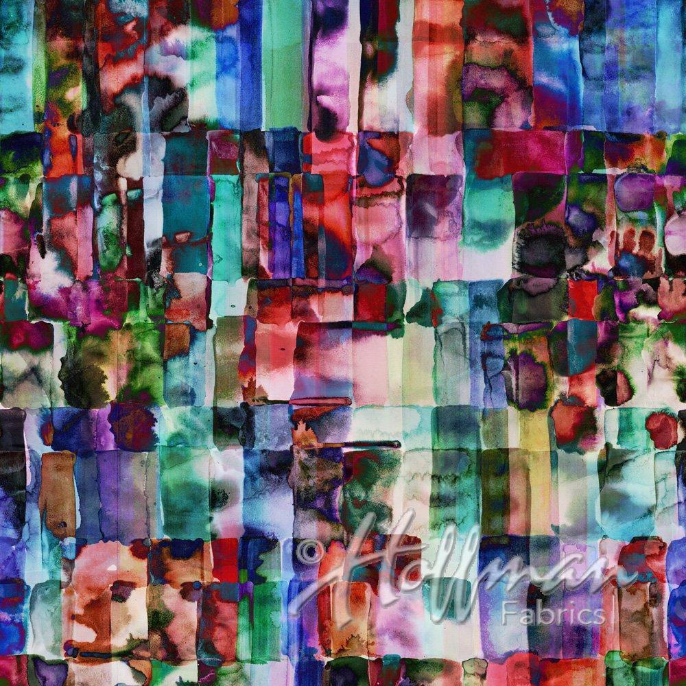 Hoffman Spectrum All Purpose FLower Q4438-162 Jewel digital print