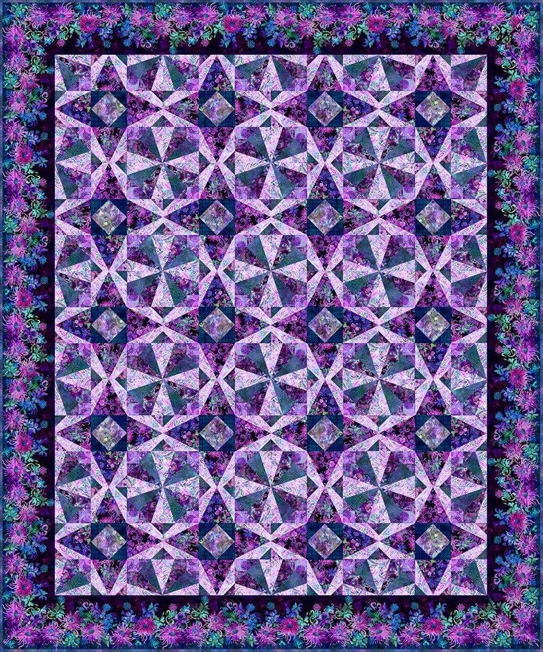 Floragraphix V Facets Quilt Kit