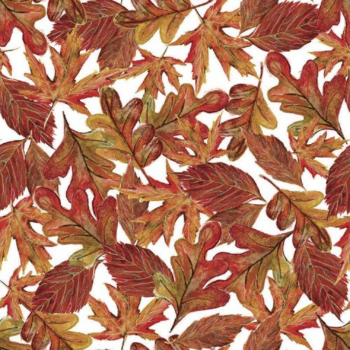 Quilter's Palette Pumpkin Spice 13885-Multi Leaves