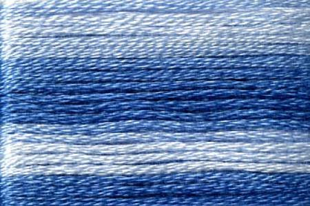 Seasons Embroidery Thread SE80-8052 LT/DK BLUE VARIEGATED