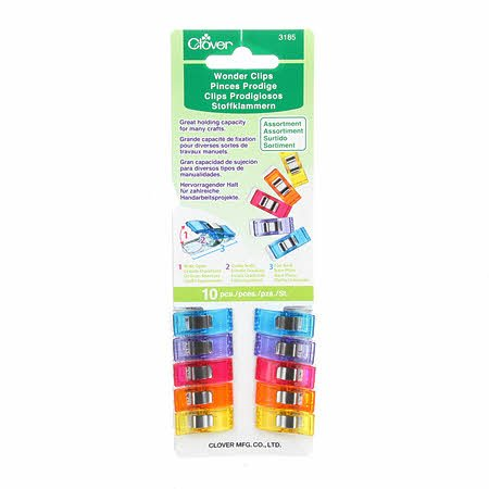 CLOVER WONDER CLIPS multi color 10CT 3185CV