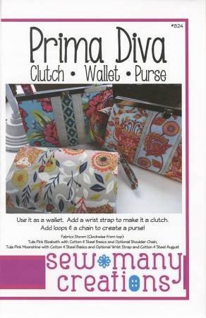 Sew Many Creations Diva Frame Wallet SMC223 - Diva wallet pattern
