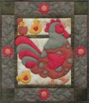 Rachel's of Greenfield Spotty Rooster 13 x 15 Wall Quilt Sample