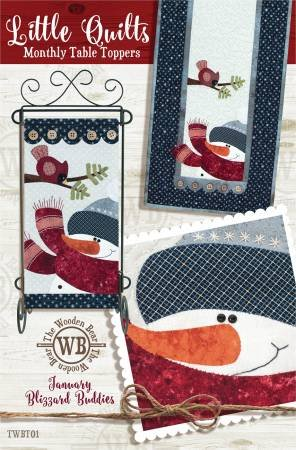 The Wooden Bear January Blizzard Buddies Pattern With Table Runner Button Package
