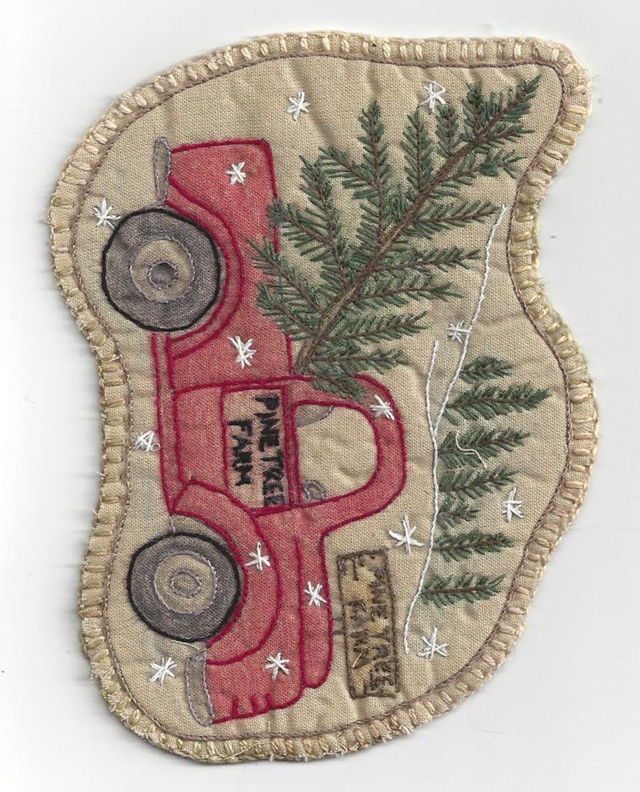 Chickadee Hollow Designs Vintage Ornament #22 Santa's Pickup truck