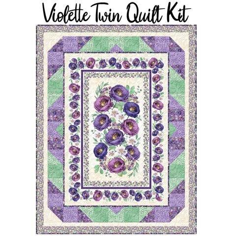 Violette Twin Size Quilt Kit