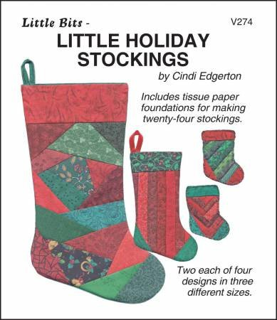 Little Bits Little Holiday Stockings Makes 2 each of 4 designs in 3 sizes VSC274