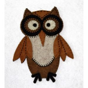 Artsi2 Humphrey Owl Kit 5.5x5.25 includesPrecision Cut Wool Felt Floss Needle and Instructions