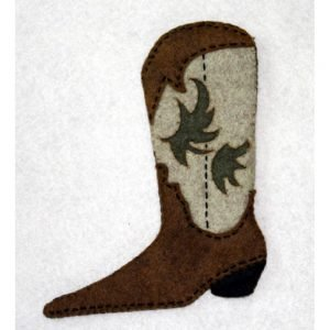 Artsi2 Josey Cowboy boot Kit 5x5.75 includes Precision Cut Wool Felt Floss Needle and Instructions