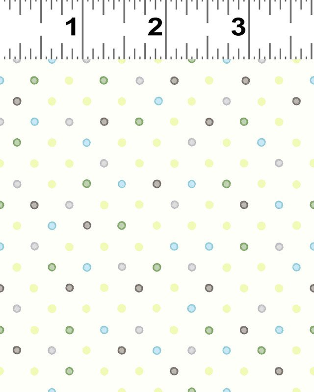 Clothworks You're All My Favorites Y2460-2 Light Cream Multi Dot
