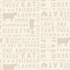 Clothworks Farmhouse Life Y2533-11 Light Khaki Farm to Fork Words