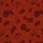 Clothworks Farmhouse Life Y2534-83 Dark Red Farm Toss