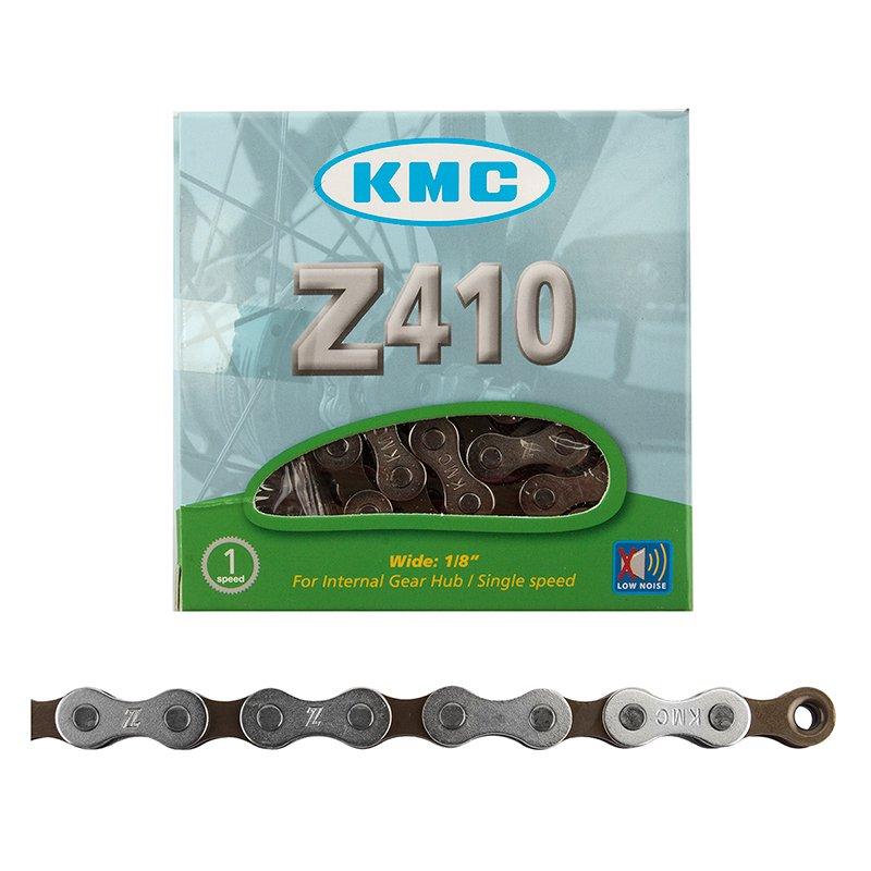 CHAIN KMC 1/2x1/8 Z410 1s SL/BRN 112L