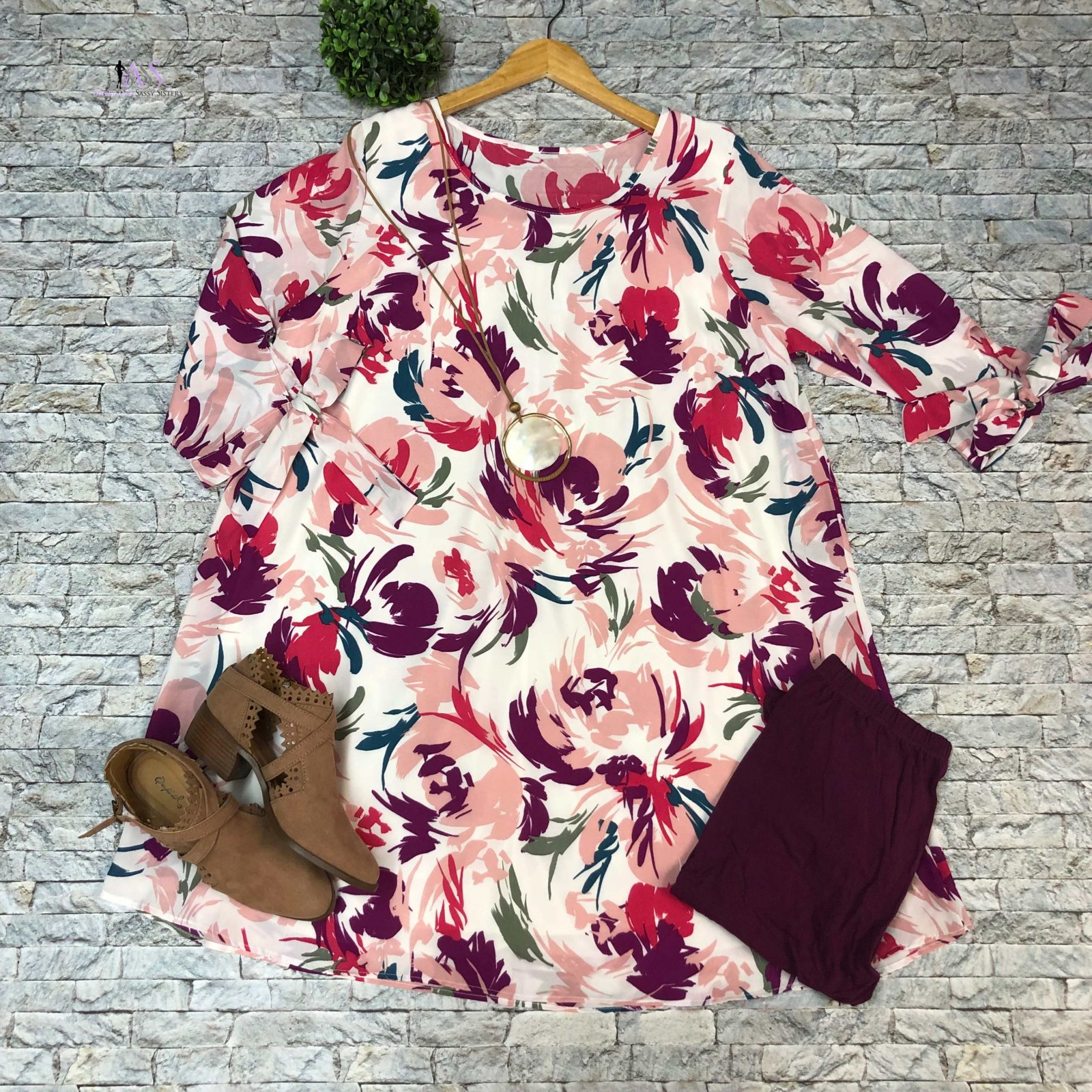Off White Floral Dress with Lining