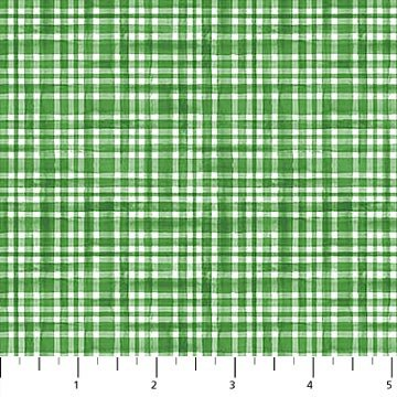 Double Decker Xmas Green Gingham