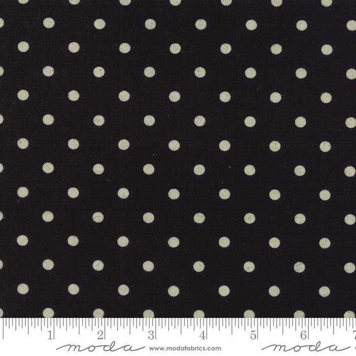 Linen Mochi Dot Black