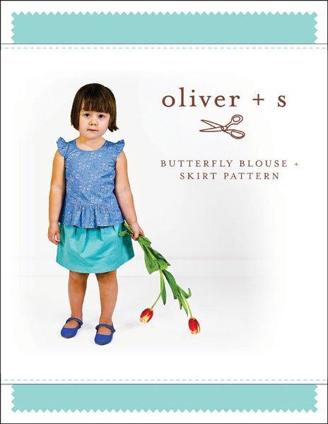 Butterfly Blouse & Skirt