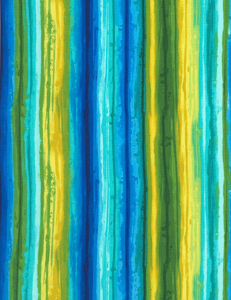 Blue/yellow/green stripes