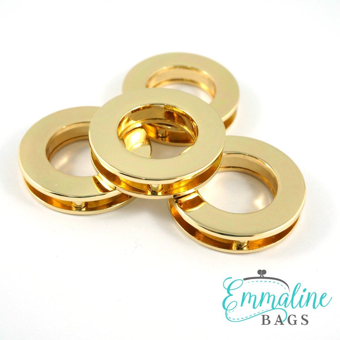 Emmaline Screw Together Grommets 3/4 Gold (4 pack)