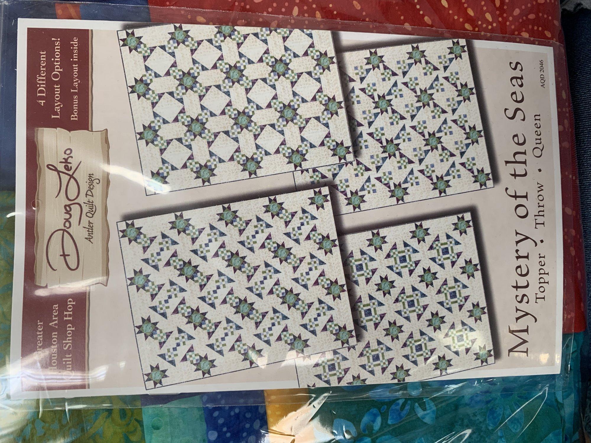 Mystery of the Sea Kit Jewel tone batiks
