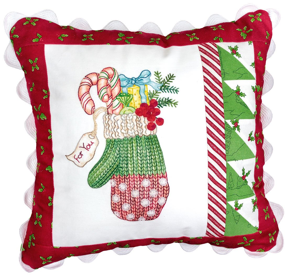 Polka Dot Mitten Pillow