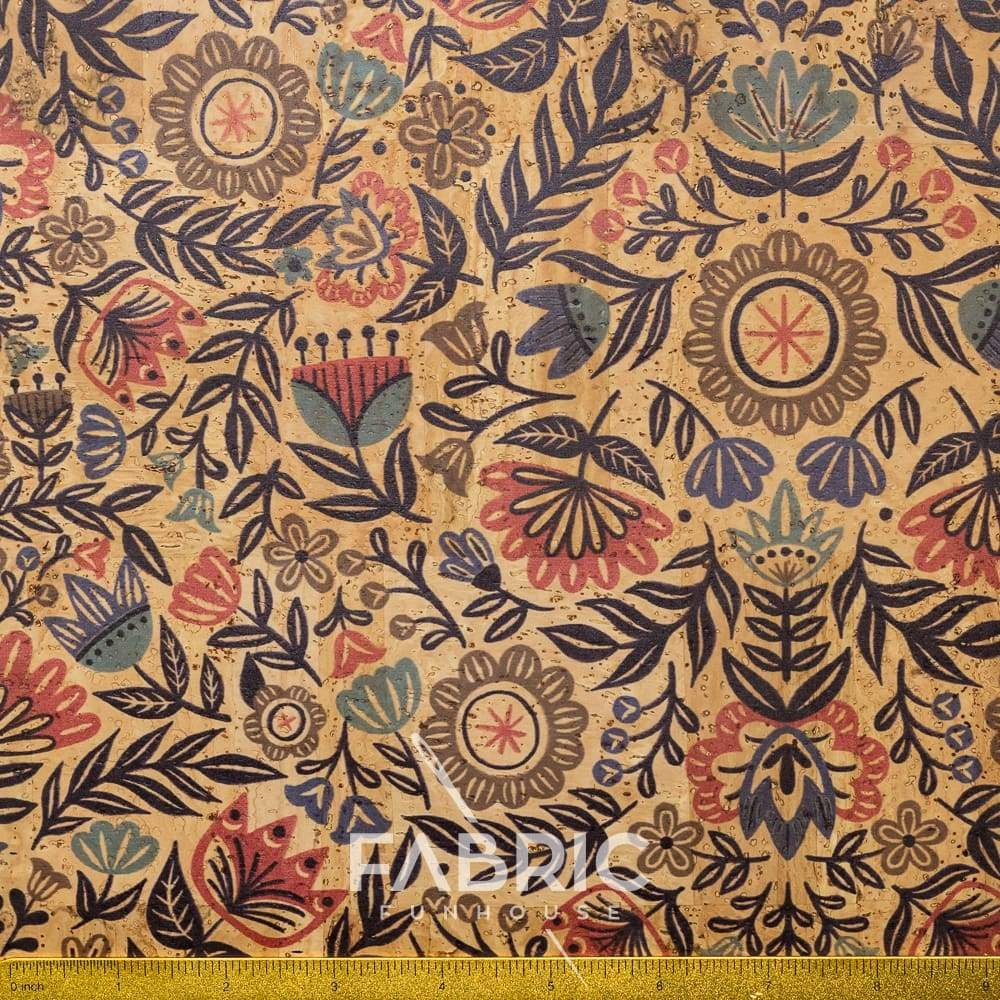 Cork Fabric - Scandinavian Folk 18