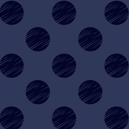 Navy Dot 108in Quilt Back # 50661-2
