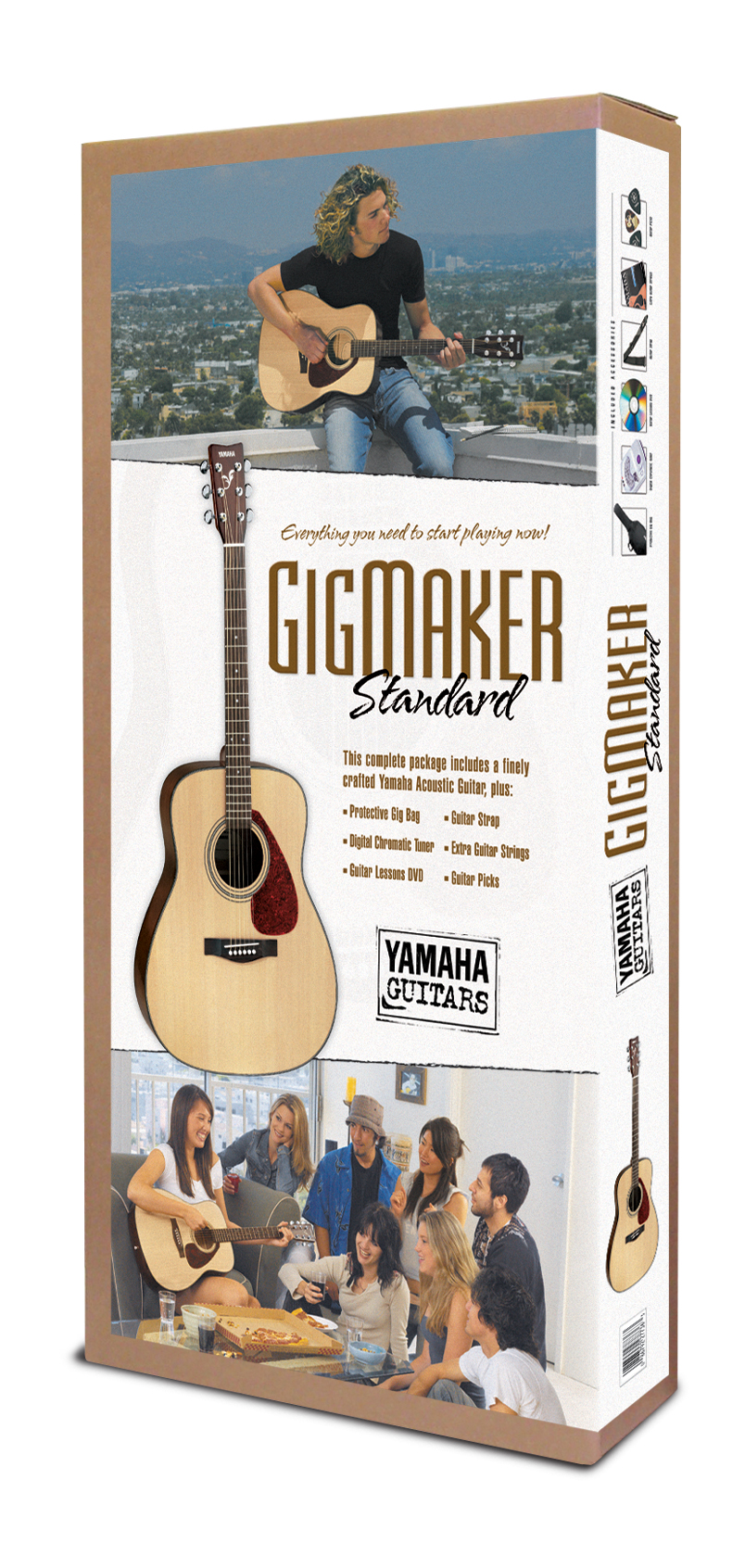 GIGMAKER STANDARD F325 ACOUSTIC GUITAR PACKAGE