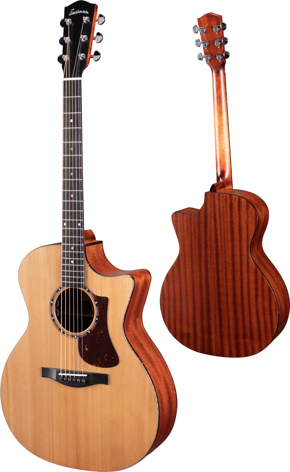 Eastman Cedar Top Grand Auditorium Cutaway Guitar AC122-2CE W/Fishman Pickup & Padded Gig Bag