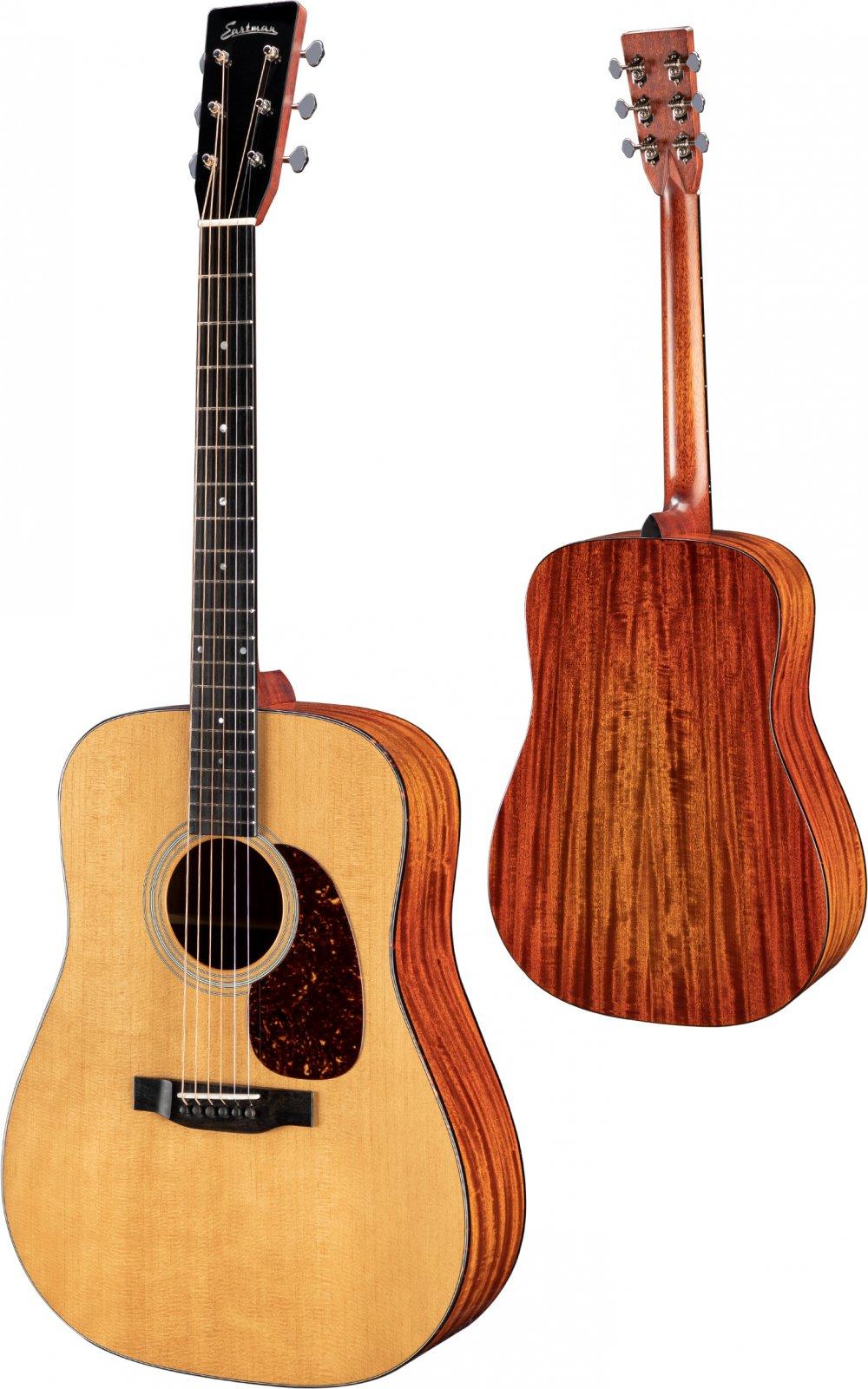 Eastman Dreadnought E6D-TC Acoustic Guitar W/ThermoCure Top & H Case
