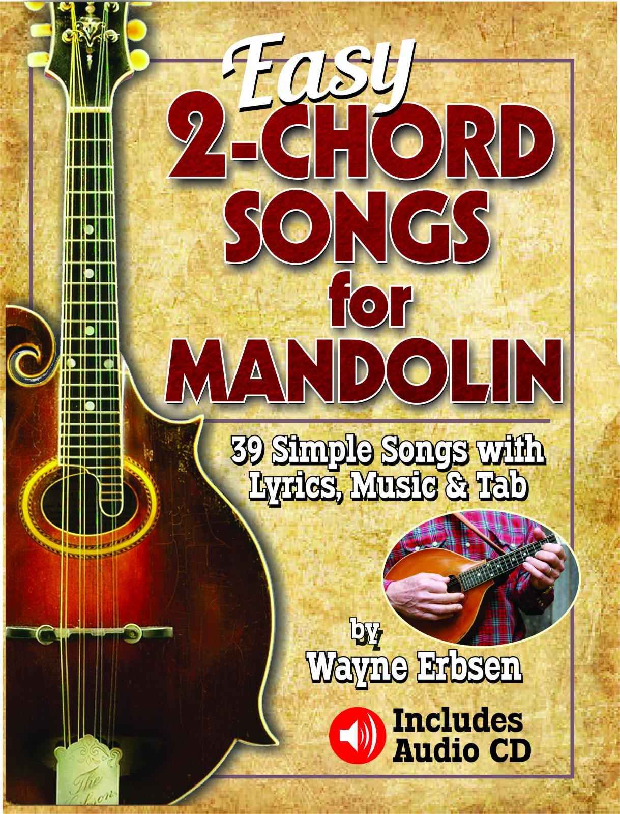 Easy 2-Chord Songs for Mandolin (book & CD set)