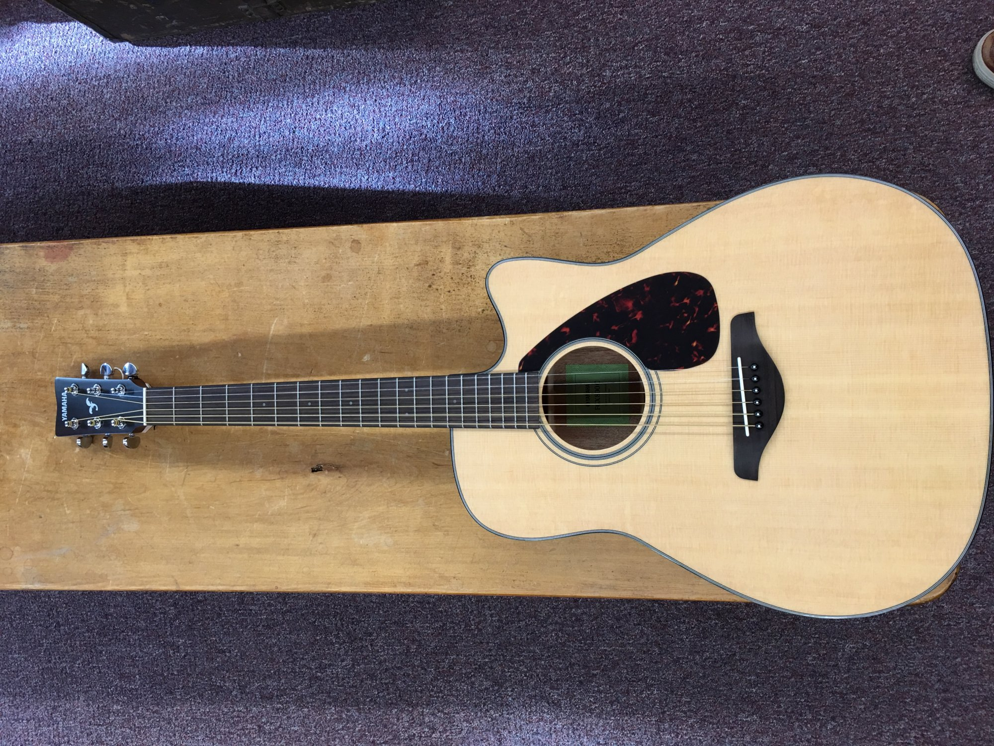 YAMAHA FGX800C NATURAL FOLK ACOUSTIC ELECTRIC GUITAR SOLID TOP