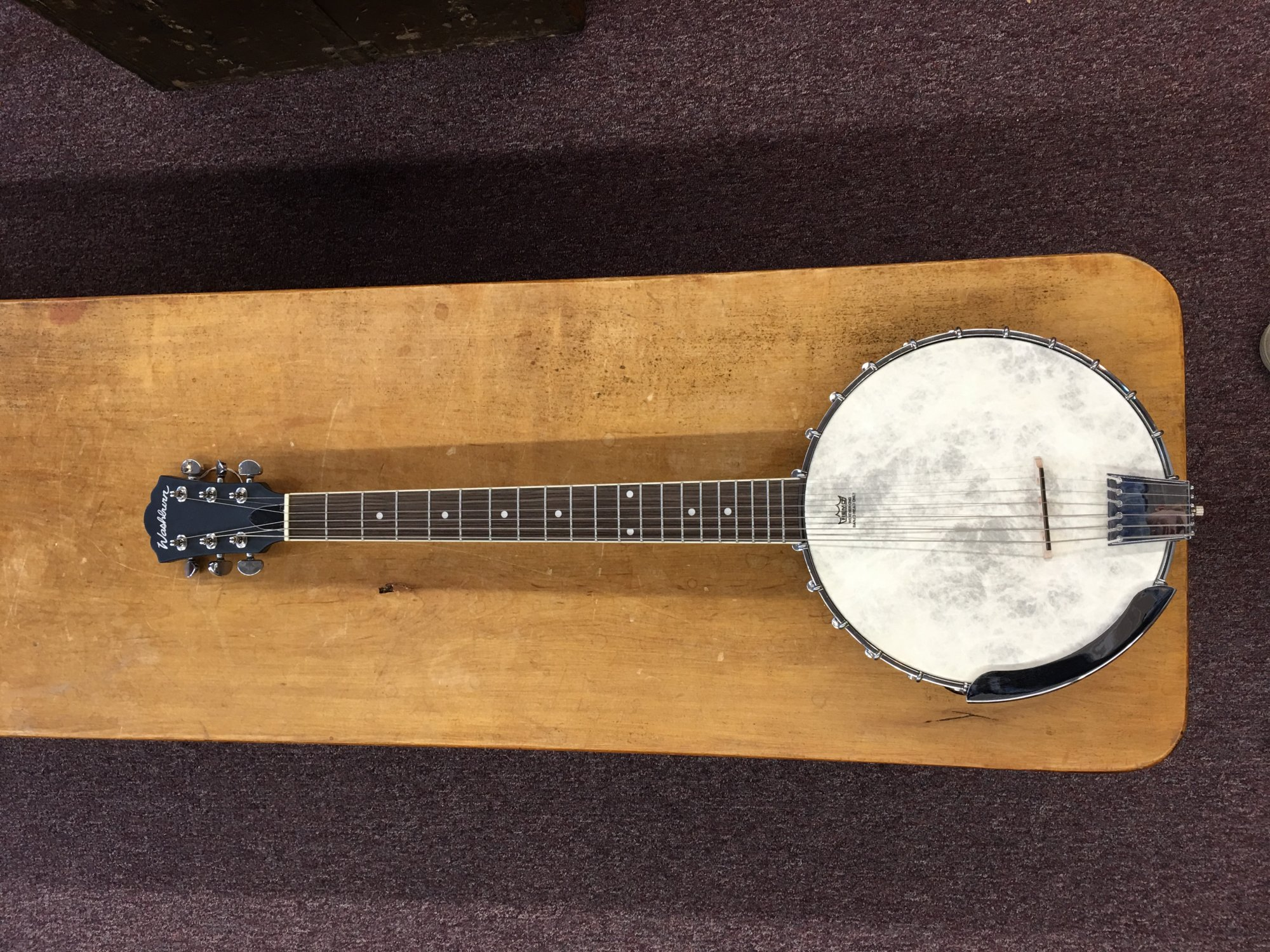 Washburn B6 Six String Banjo - Open Back