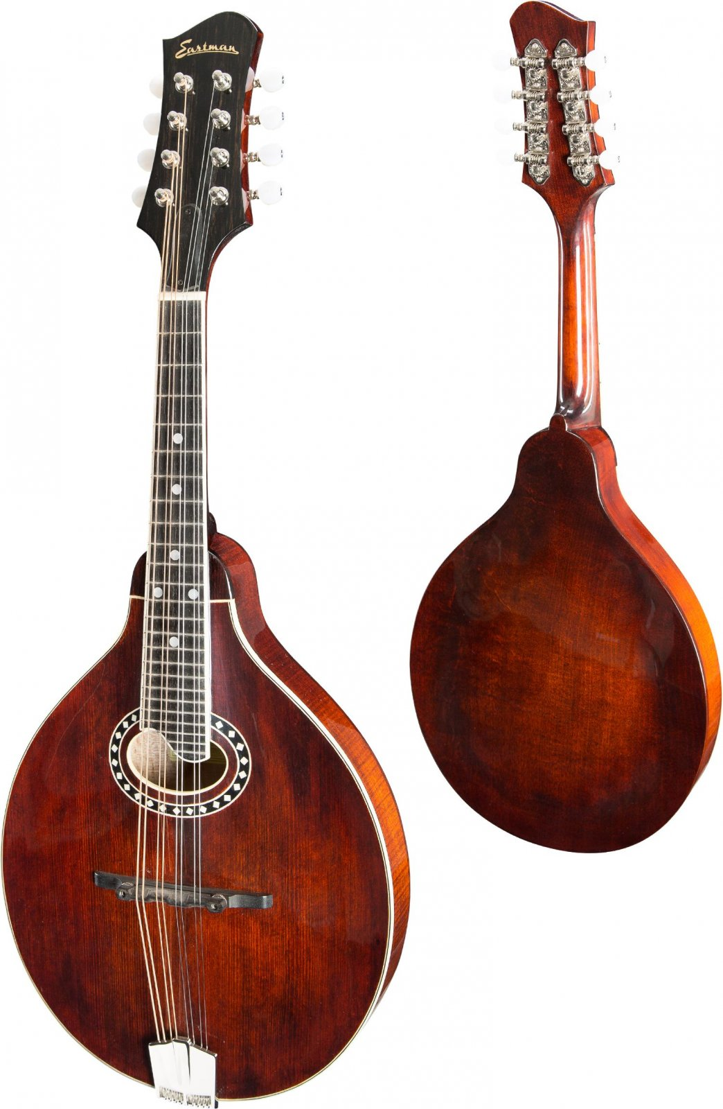 Eastman MD504 Oval Sound Hole Mandolin with Case - A-Style