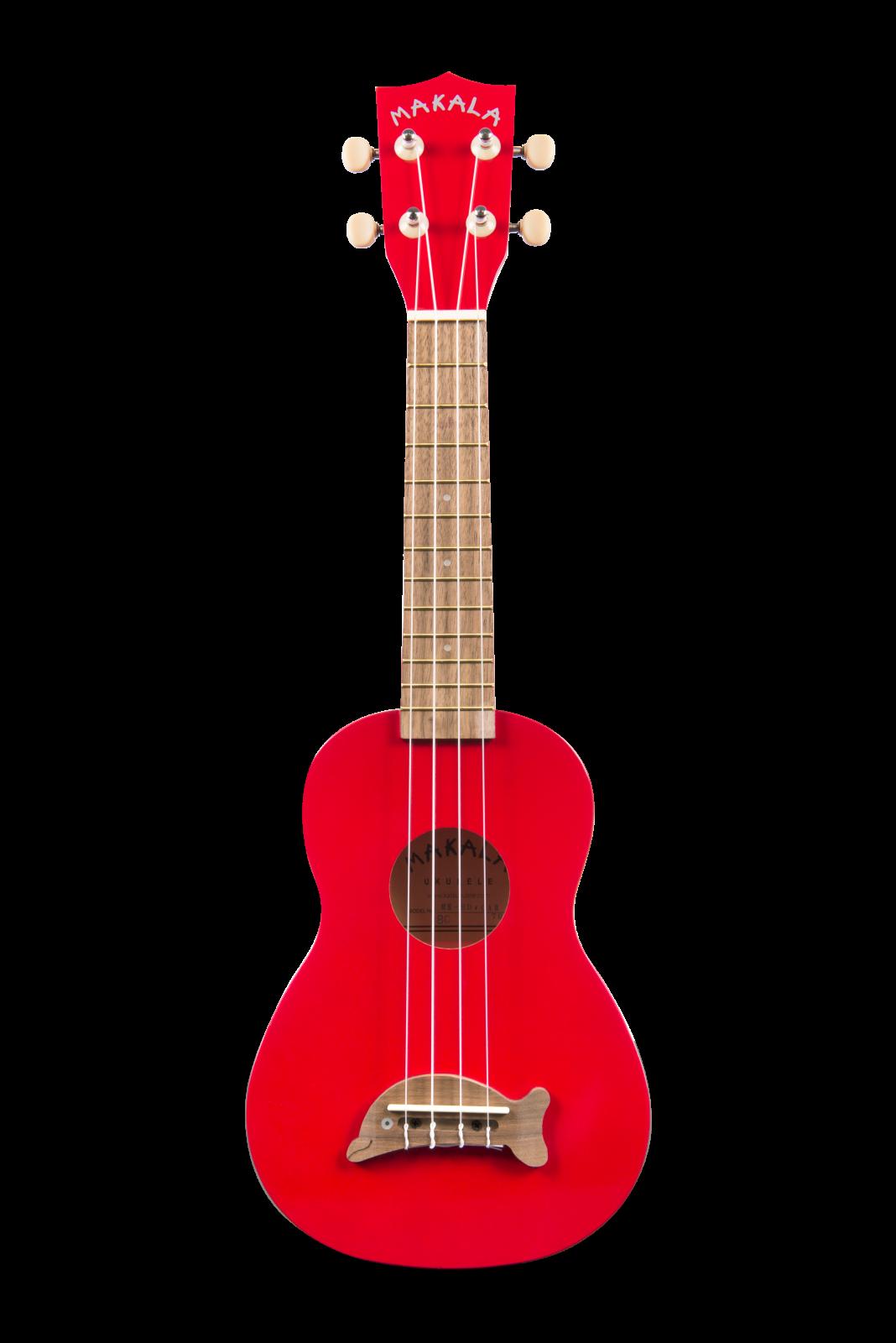 Makala DOLPHIN Soprano Uke -  Candy Apple Red