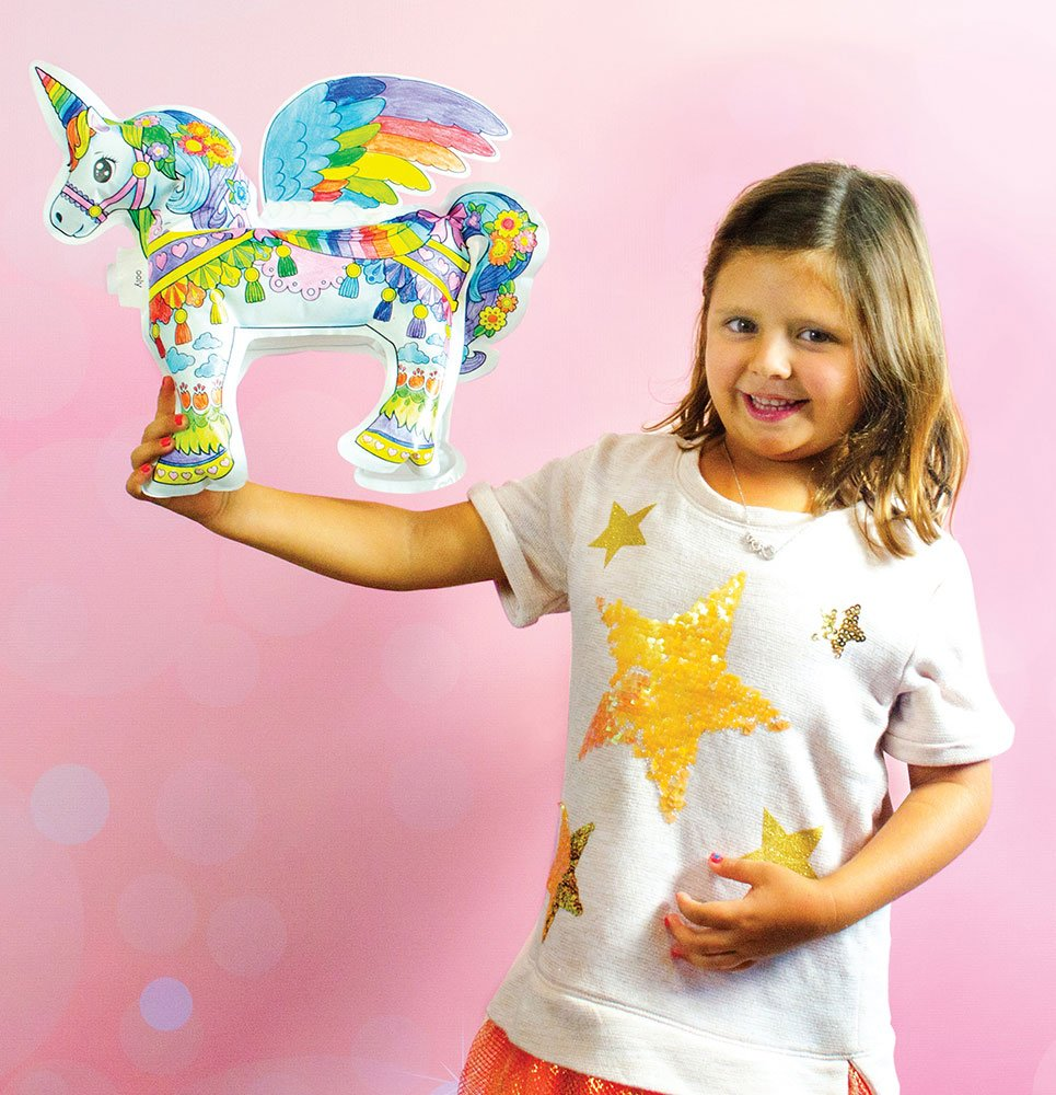 Magical Unicorn 3d Colorable