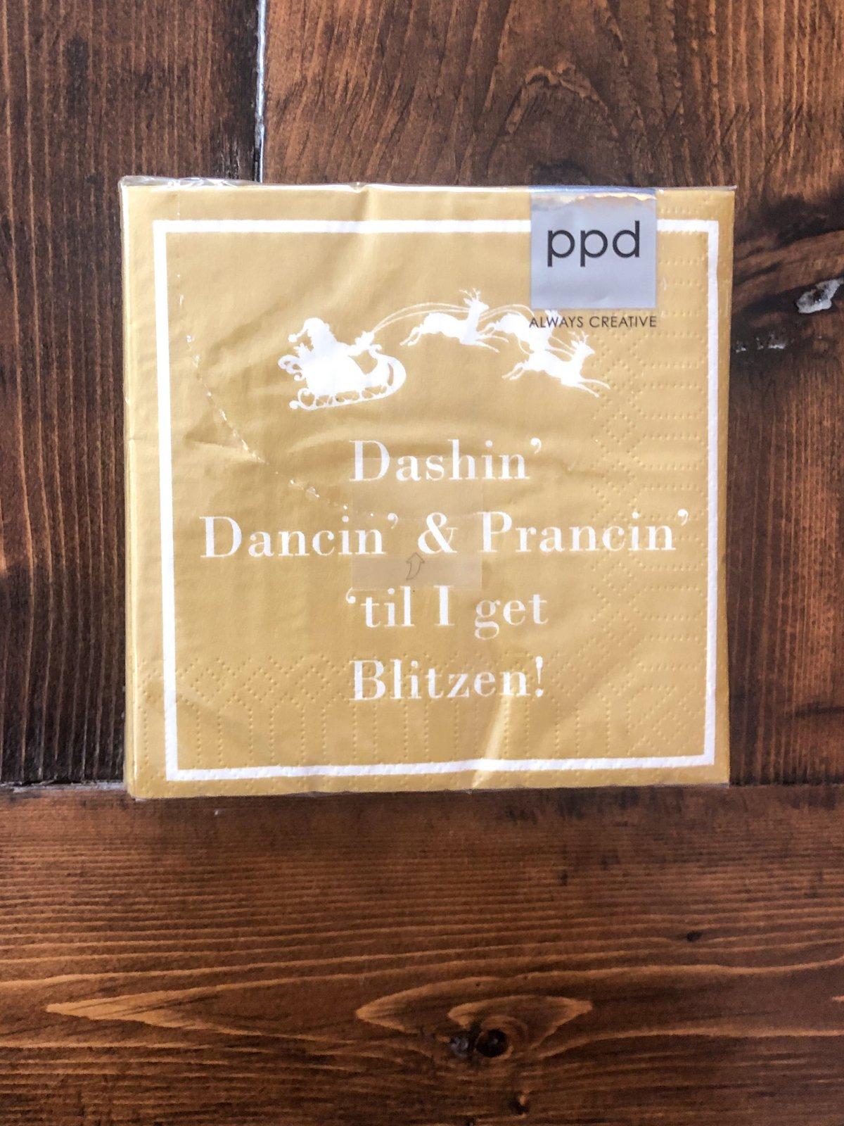Dashin' Dancin' Prancin' Napkins