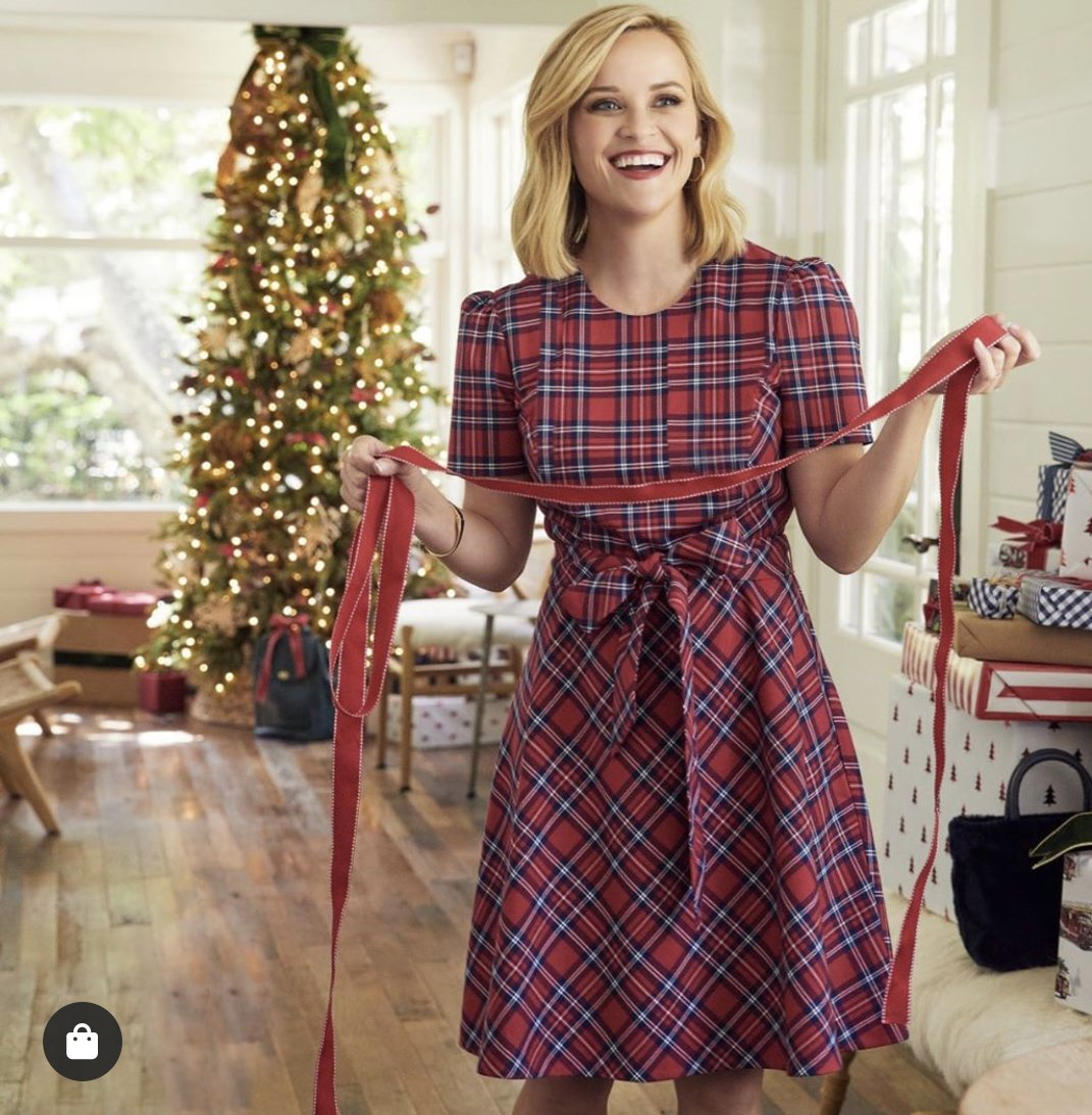 Draper James Red Angie Check Bow Dress
