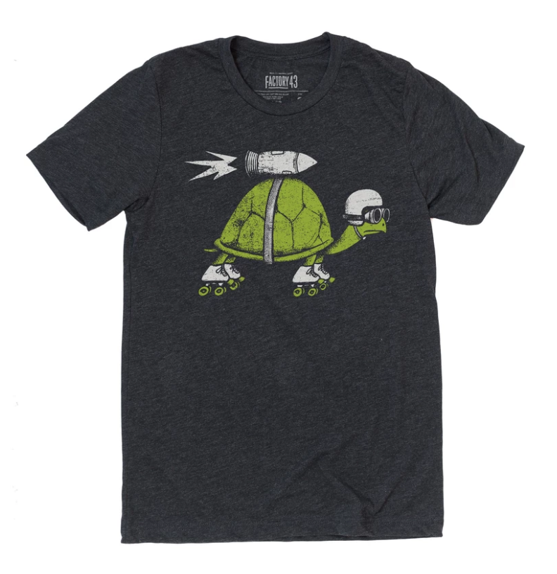 Rocket Turtle Tee Adult Unisex Factory 43