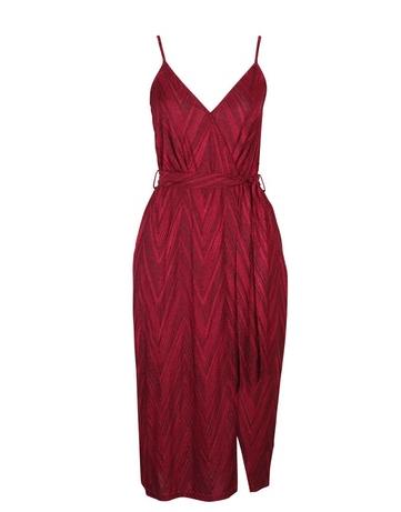 Mink Pink Red Strappy Wrap Dress