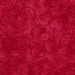 Harmony - Curly Scroll Red