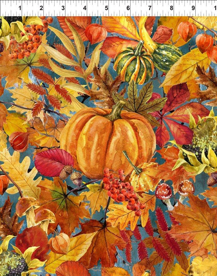 Our Autumn Friends - Pumpkin Patch Gray