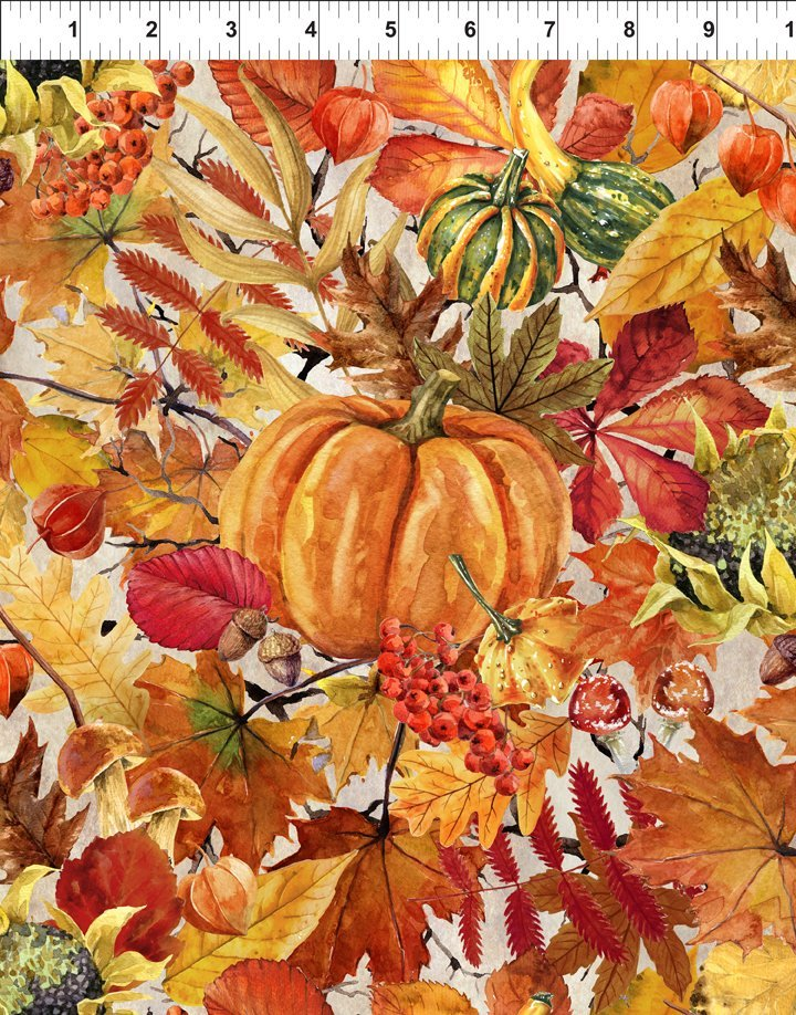 Our Autumn Friends - Pumpkin Patch Taupe
